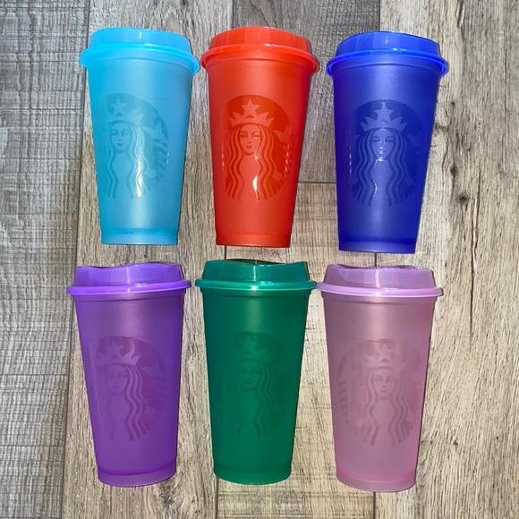 NIB Starbuck Summer 2021 Release Hot Reusable Cups